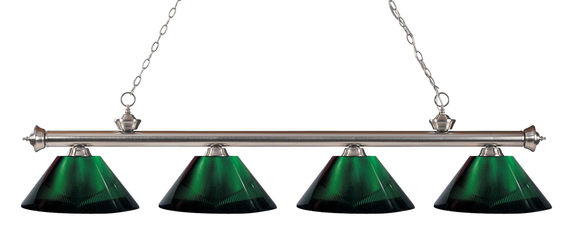 Z-Lite 200-4-ARG Riviera 4 Light Island/Billiard Light with Green Sale $392.00 ITEM: bci2564593 ID#:200-4BN-ARG UPC: 685659041187 :