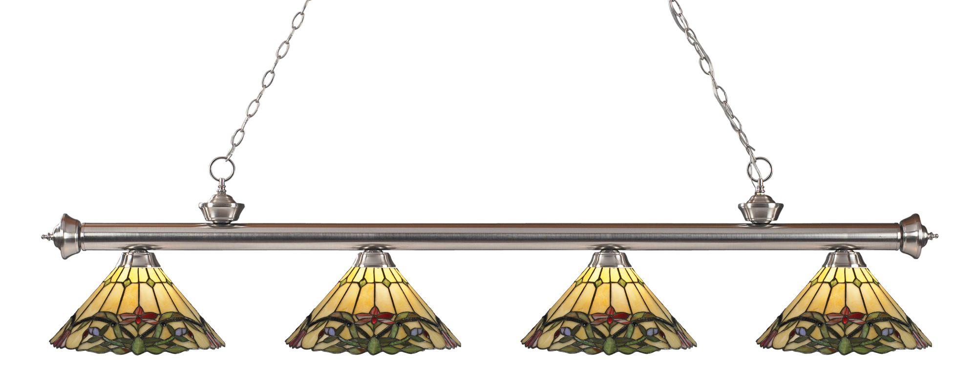 Z-Lite 200-4-Z14-49 Riviera 4 Light Island/Billiard Light with Sale $1062.00 ITEM: bci2564634 ID#:200-4BN-Z14-49 UPC: 685659041590 :