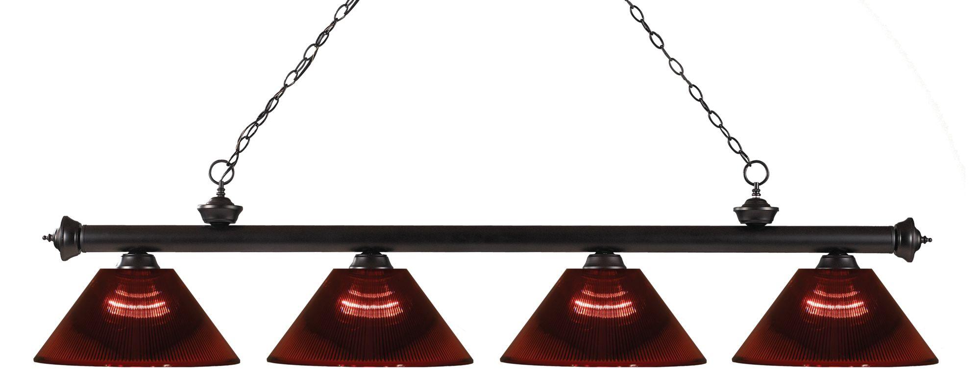 Z-Lite 200-4-ARBG Riviera 4 Light Island/Billiard Light with Burgundy Sale $356.00 ITEM: bci2564637 ID#:200-4BRZ-ARBG UPC: 685659041620 :