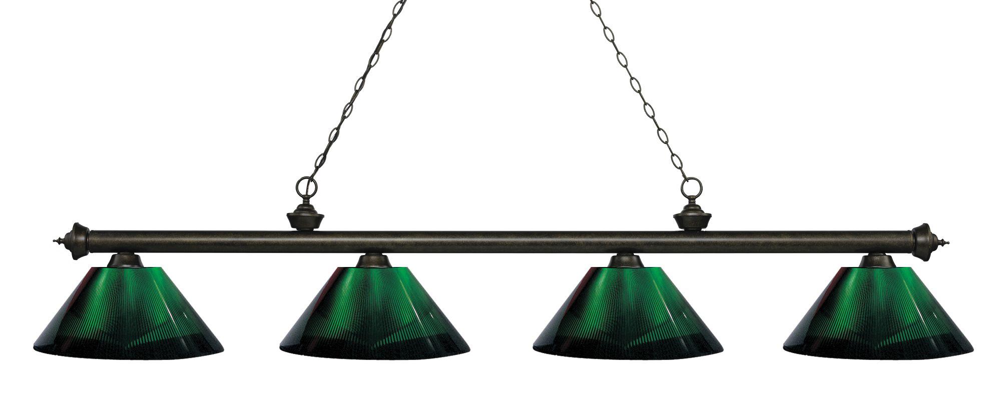 Z-Lite 200-4-ARG Riviera 4 Light Island/Billiard Light with Green Sale $366.00 ITEM: bci2758240 ID#:200-4GB-ARG UPC: 685659059397 :