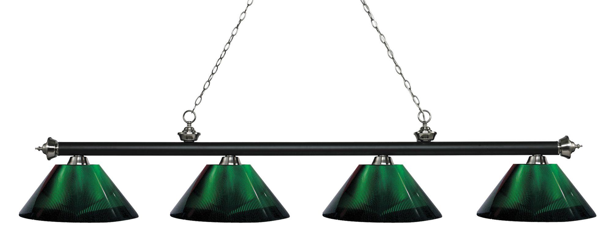 Z-Lite 200-4-ARG Riviera 4 Light Island/Billiard Light with Green Sale $366.00 ITEM: bci2758335 ID#:200-4MB+BN-ARG UPC: 685659060386 :