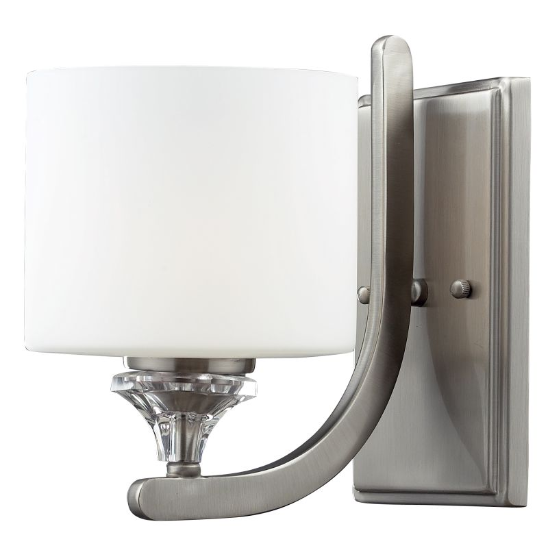 Z-Lite 2000-1S Avignon 1 Light Wall Sconce with Matte White Glass