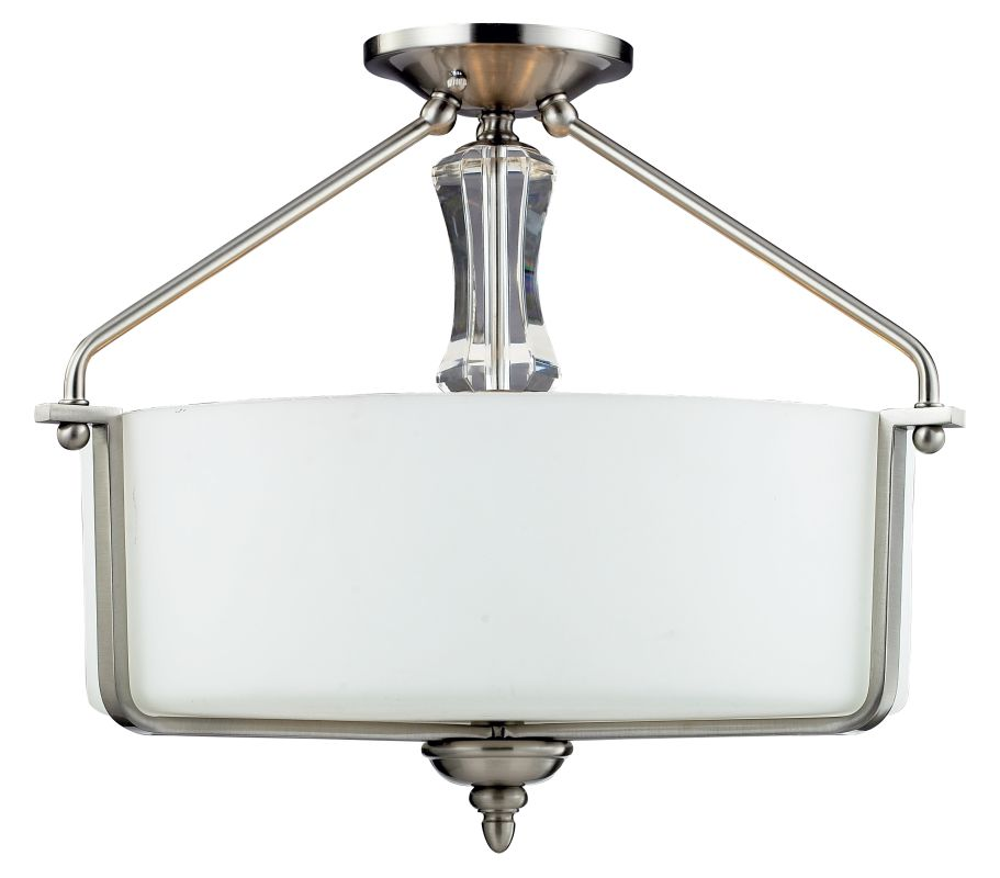 Z-Lite 2000SF Avignon 3 Light Semi-Flush Ceiling Fixture with Matte Sale $348.00 ITEM: bci2518807 ID#:2000SF UPC: 685659016468 :