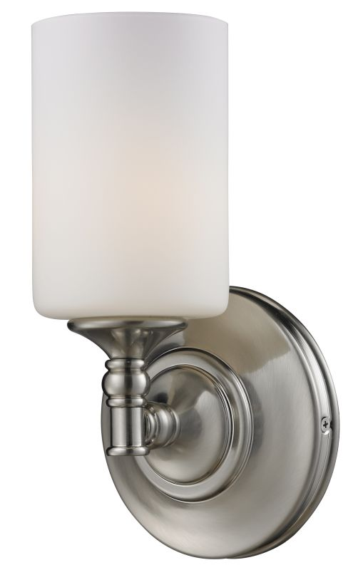 Z-Lite 2102-1S Cannondale 1 Light Wall Sconce with Matte Opal Glass