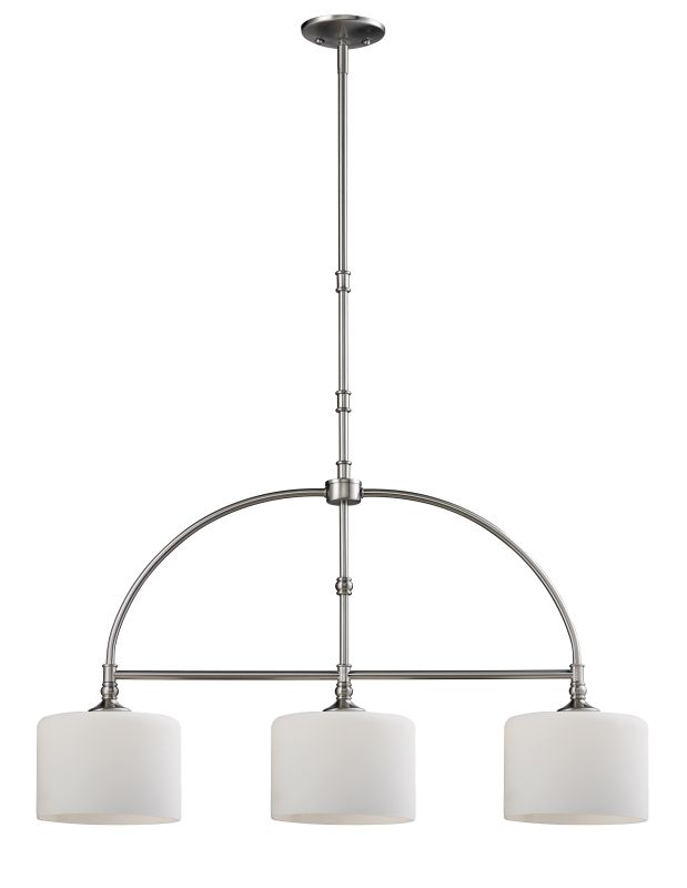 Z-Lite 2102-3B Cannondale 3 Light Pendant with Matte Opal Glass Shade