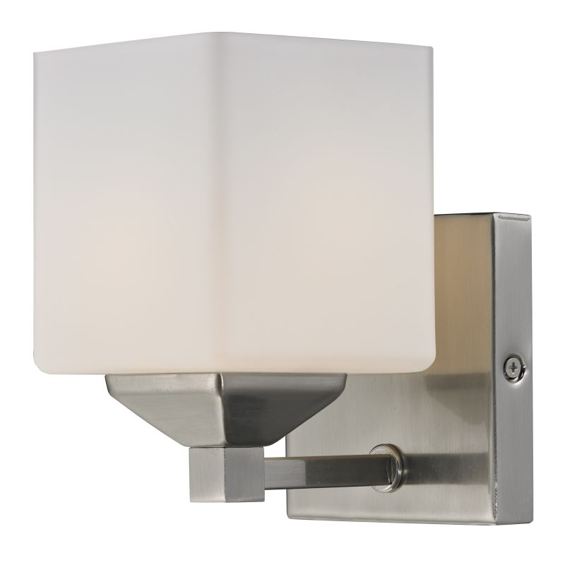 Z-Lite 2104-1V Quube 1 Light Bathroom Sconce with Matte Opal Glass Sale $60.00 ITEM: bci2485412 ID#:2104-1V UPC: 685659016932 :