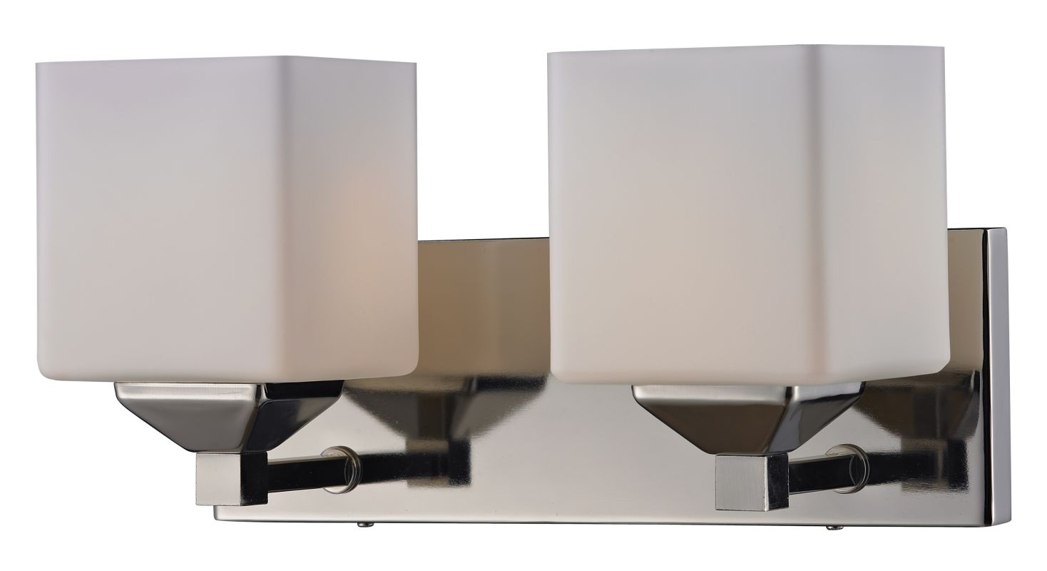 Z-Lite 2105-2V Quube 2 Light Bathroom Vanity Light with Matte Opal Sale $136.00 ITEM: bci2485417 ID#:2105-2V UPC: 685659016987 :