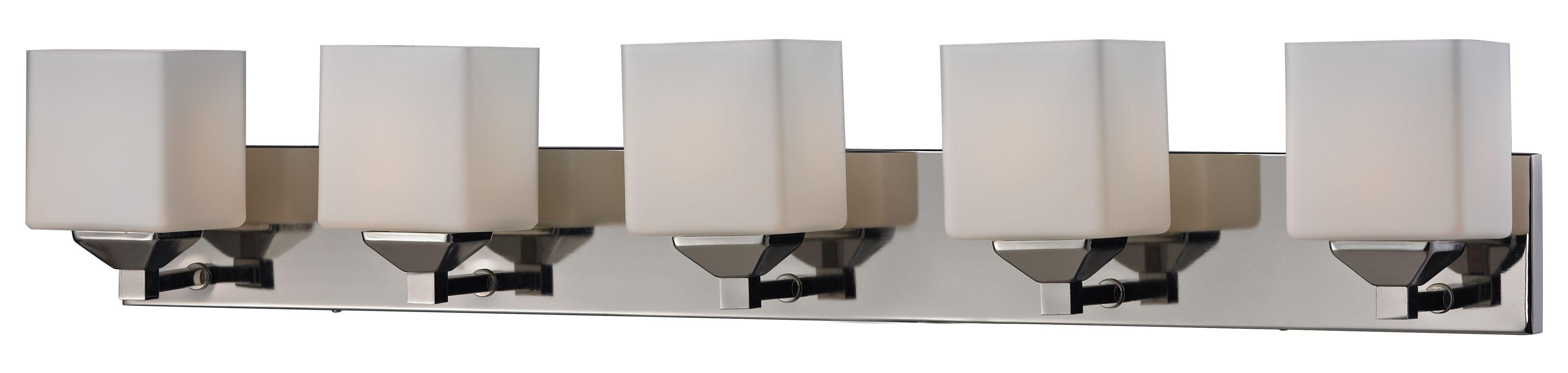 Z-Lite 2105-5V Quube 5 Light Bathroom Vanity Light with Matte Opal