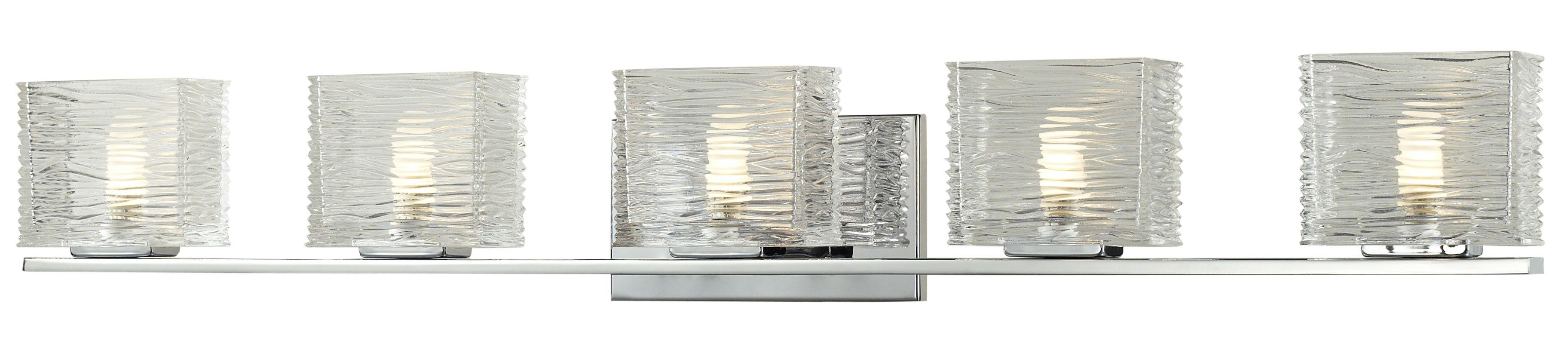Z-Lite 3025-5V Jaol 5 Light ADA Compliant Bathroom Vanity Light with