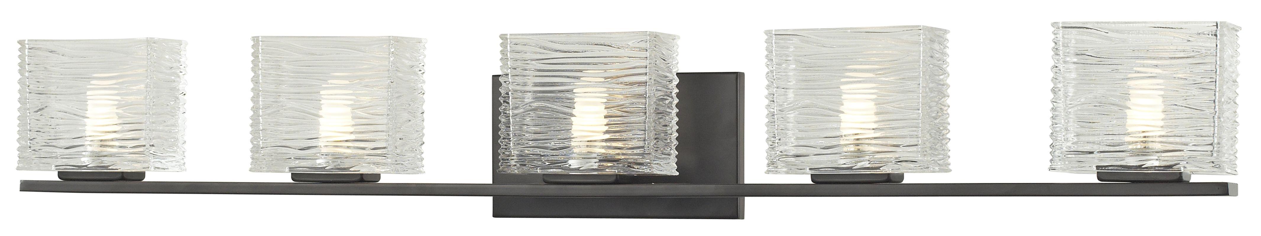 Z-Lite 3026-5V Jaol 5 Light ADA Compliant Bathroom Vanity Light with