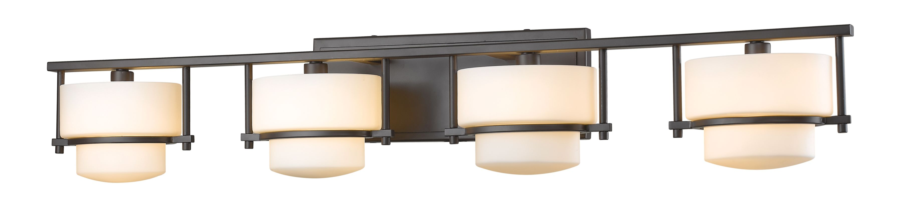 Z-Lite 3030-4V Porter 4 Light Bathroom Vanity Fixture Bronze Indoor Sale $446.00 ITEM: bci2614016 ID#:3030-4V-BRZ UPC: 685659045017 :