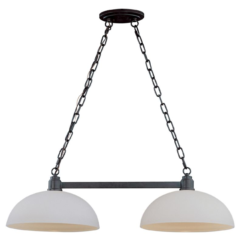 Z-Lite 314-2 Chelsey 2 Light Chandelier with Glass Shade Dark Bronze