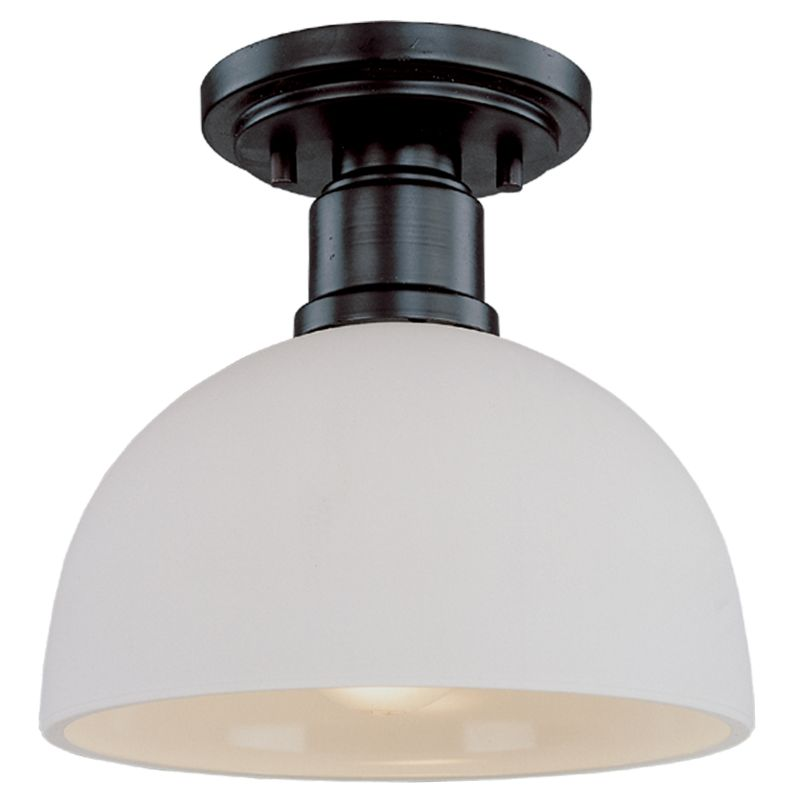 Z-Lite 314F Chelsey 1 Light Flushmount Ceiling Fixture Dark Bronze