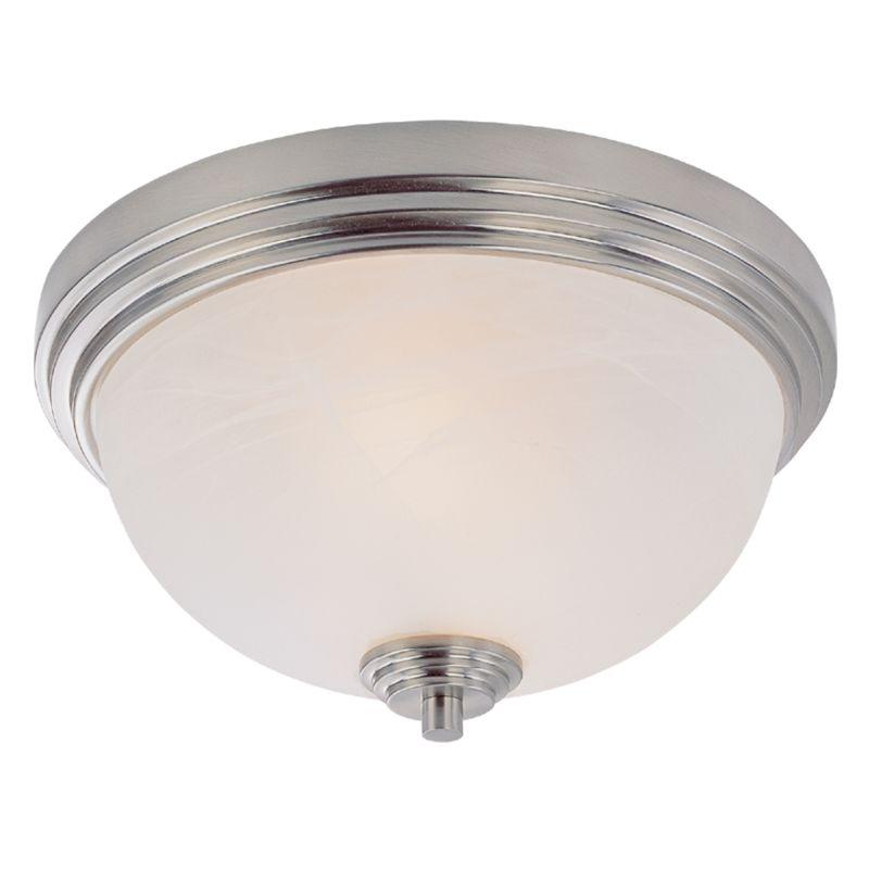 Z-Lite 314F2 Chelsey 2 Light Flushmount Ceiling Fixture Brushed Nickel