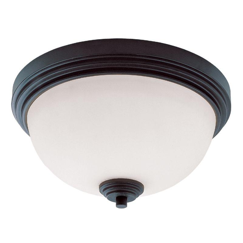 Z-Lite 314F2 Chelsey 2 Light Flushmount Ceiling Fixture Dark Bronze