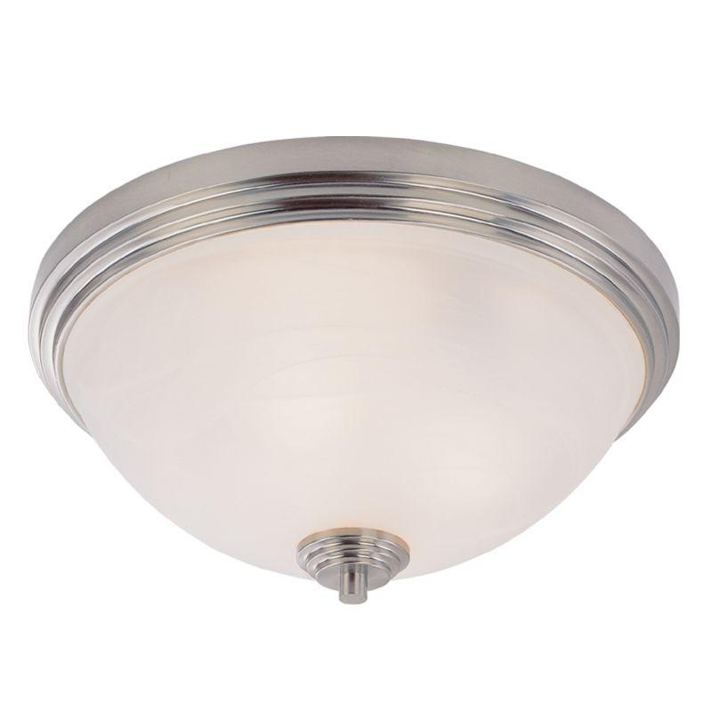 Z-Lite 314F3 Chelsey 3 Light Flushmount Ceiling Fixture Brushed Nickel