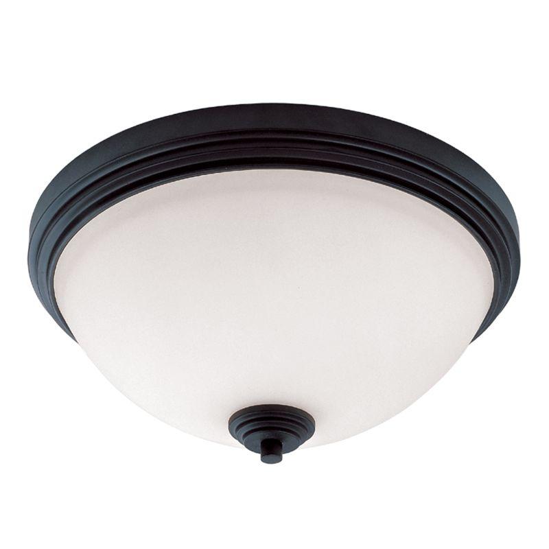 Z-Lite 314F3 Chelsey 3 Light Flushmount Ceiling Fixture Dark Bronze