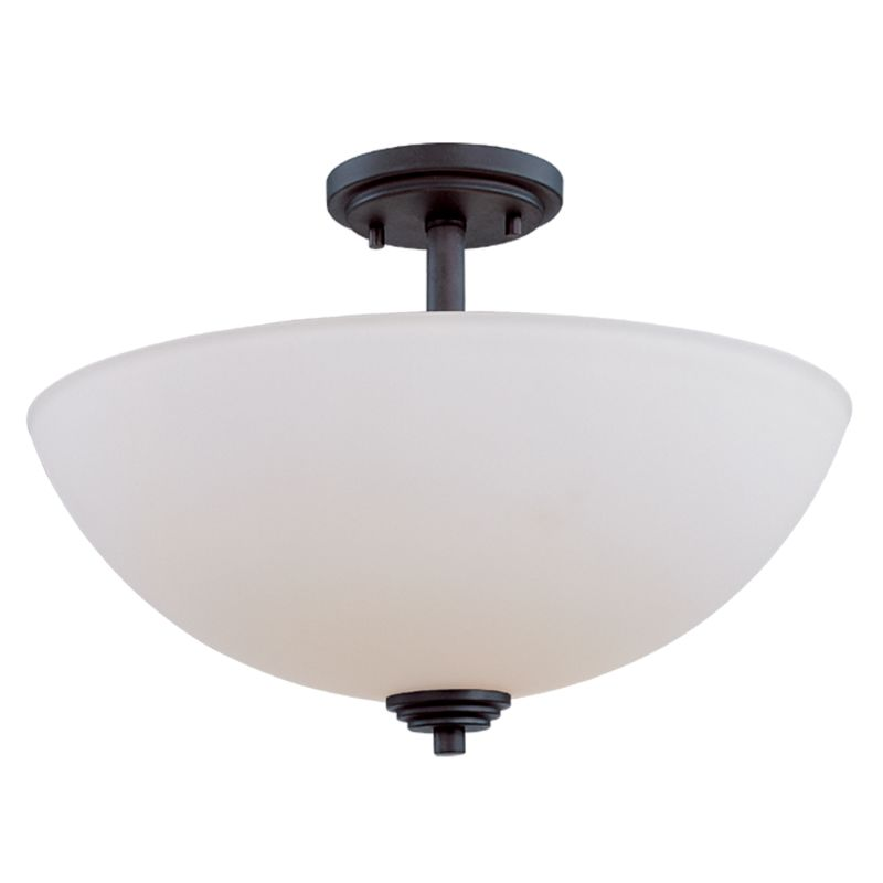 Z-Lite 314SF Chelsey 3 Light Semi-Flush Ceiling Fixture Dark Bronze