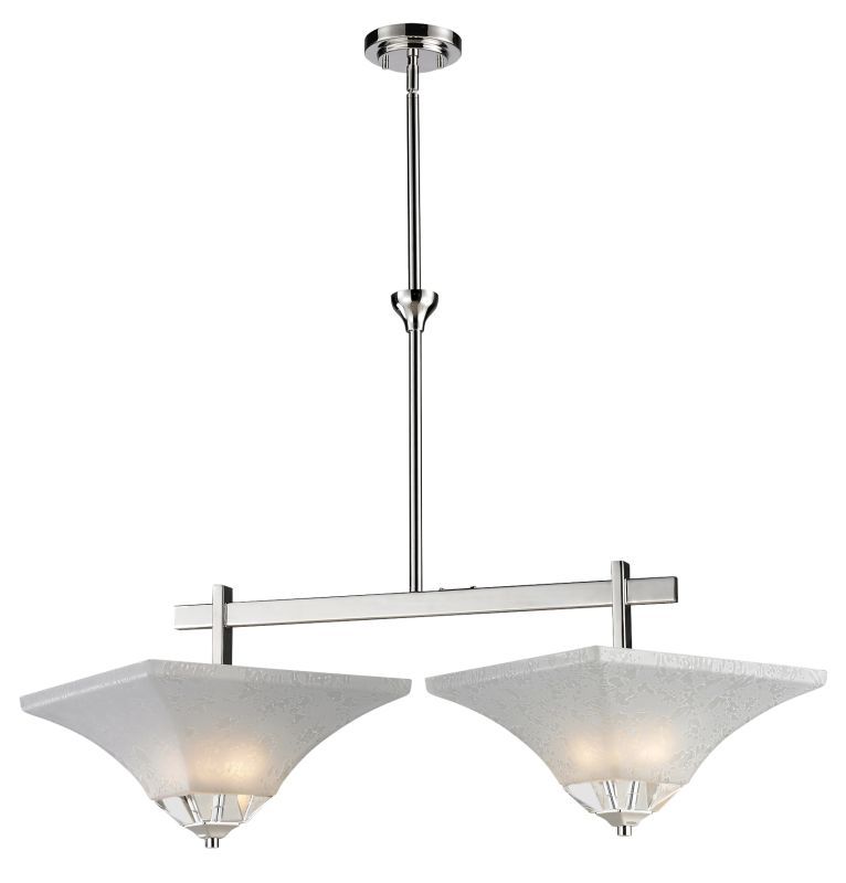 Z-Lite 319-2 Pershing 4 Light Chandelier with White Watermark Glass