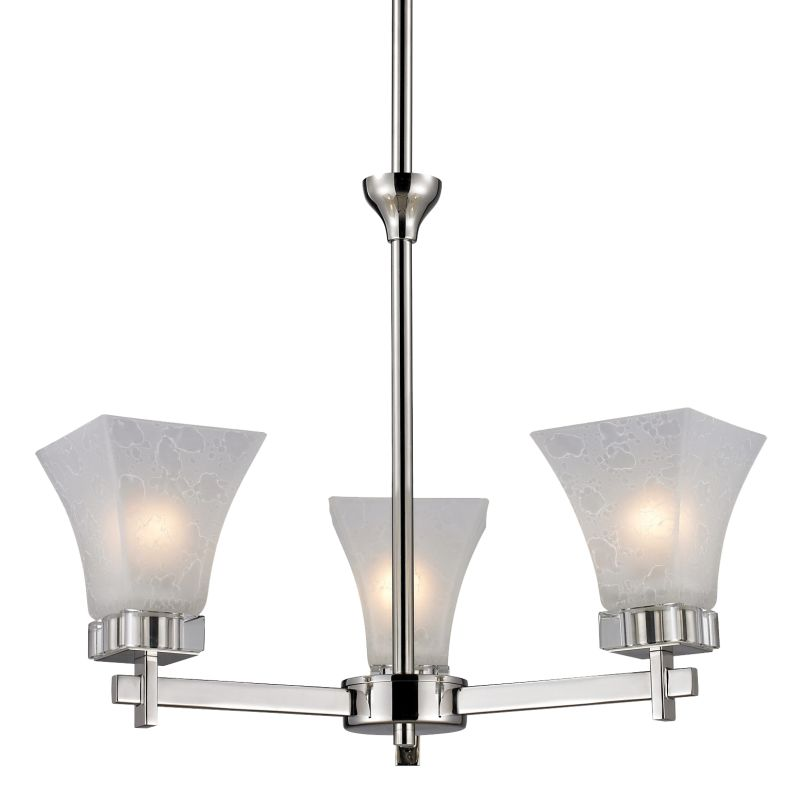 Z-Lite 319-3 Pershing 3 Light 1 Tier Chandelier with White Watermark