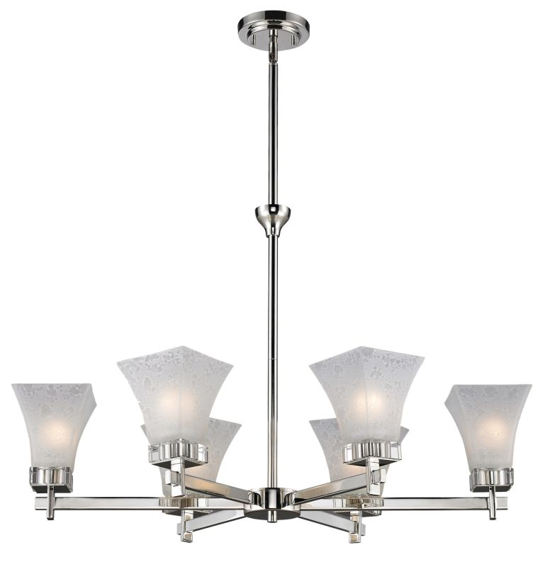 Z-Lite 319-6 Pershing 6 Light 1 Tier Chandelier with White Watermark