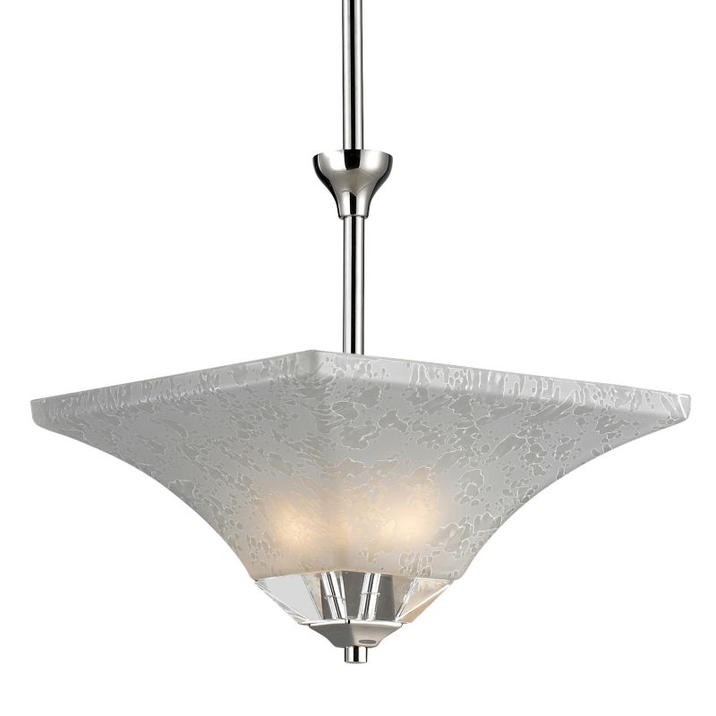 Z-Lite 319P Pershing 2 Light Full Sized Pendant with White Watermark