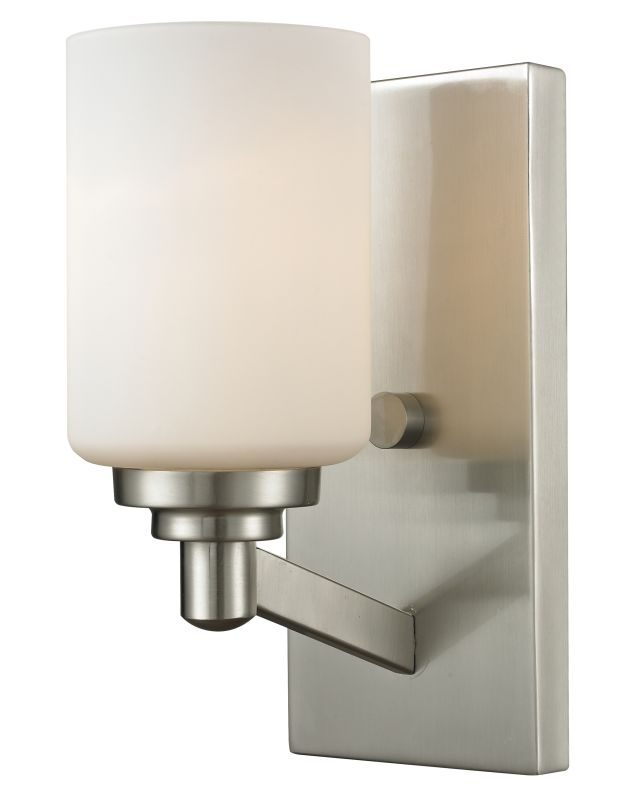 Z-Lite 410-1S Montego 1 Light Wall Sconce with Matte Opal Glass Shade