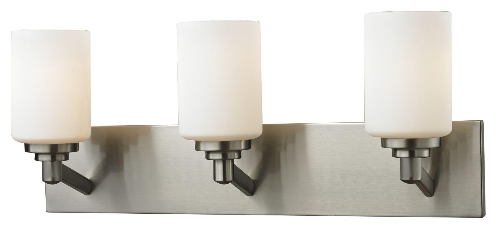 Z-Lite 410-3V Montego 3 Light Bathroom Vanity Light with Matte Opal