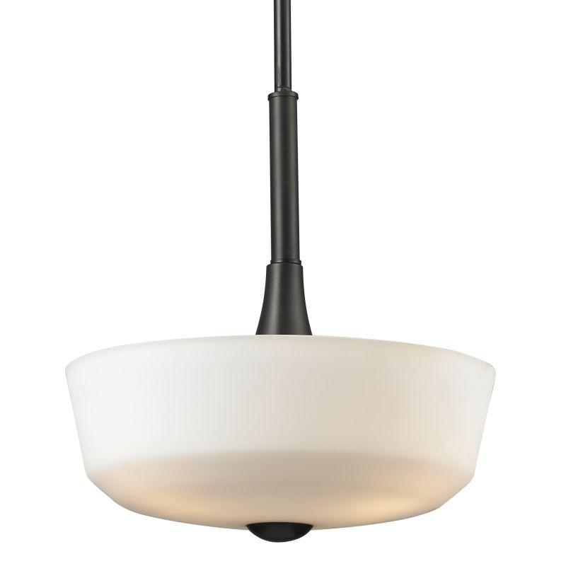 Z-Lite 411P15 Montego 3 Light Bowl Shaped Pendant with Matte Opal