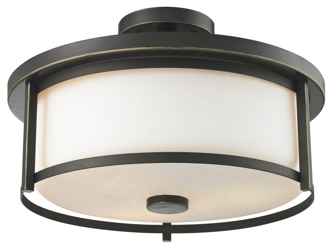 Z-Lite 413SF16 Savannah 3 Light Semi-Flush Ceiling Fixture with Matte Sale $212.00 ITEM: bci2518938 ID#:413SF16 UPC: 685659036626 :