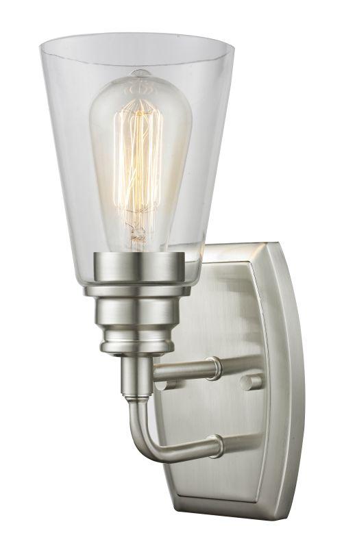 Z-Lite 428-1S Annora 1 Light Bathroom Sconce Brushed Nickel Indoor