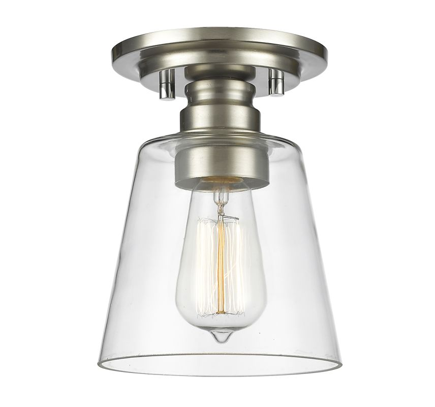 Z-Lite 428F1 Annora 1 Light Flush Mount Ceiling Fixture with Clear