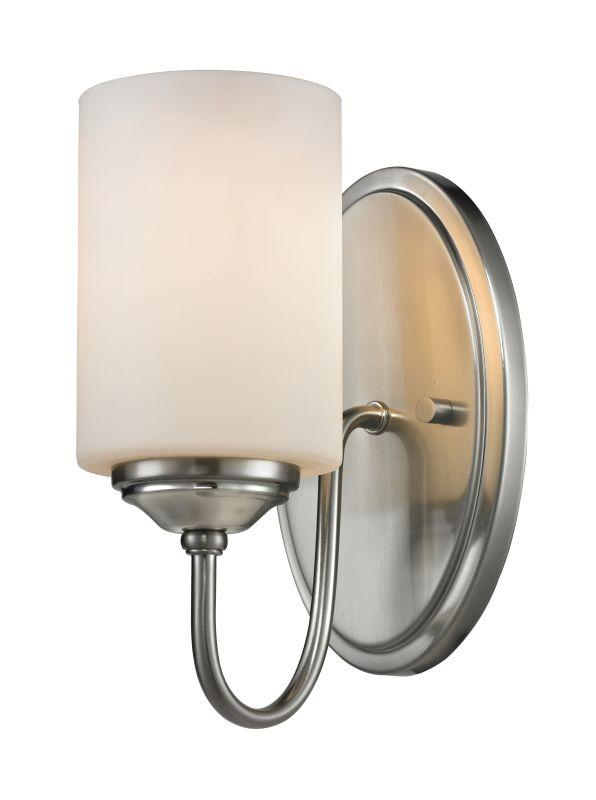 Z-Lite 434-1S Cardinal 1 Light Bathroom Sconce Brushed Nickel Indoor