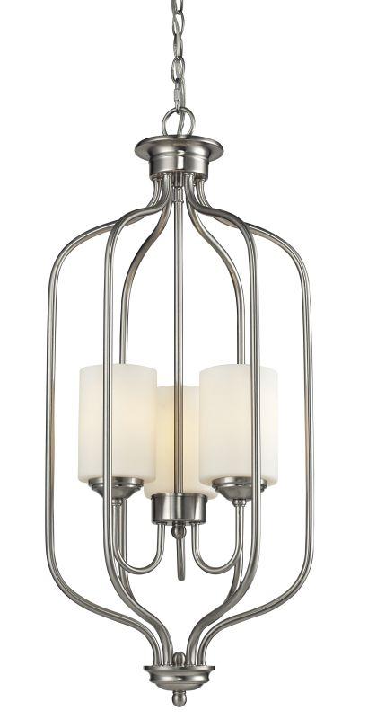 Z-Lite 434-31 Cardinal 3 Light Pendant Brushed Nickel Indoor Lighting