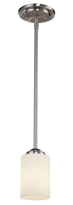 Z-Lite 434-MP Cardinal 1 Light Pendant Brushed Nickel Indoor Lighting