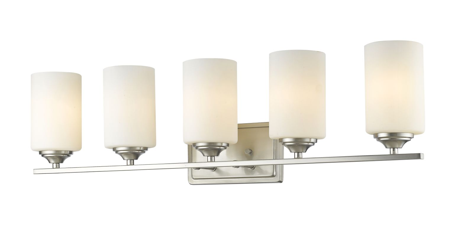 Z-Lite 435-5V Bordeaux 5 Light Vanity Light with Matte Opal Glass Sale $242.00 ITEM: bci2735567 ID#:435-5V-BN UPC: 685659050141 :