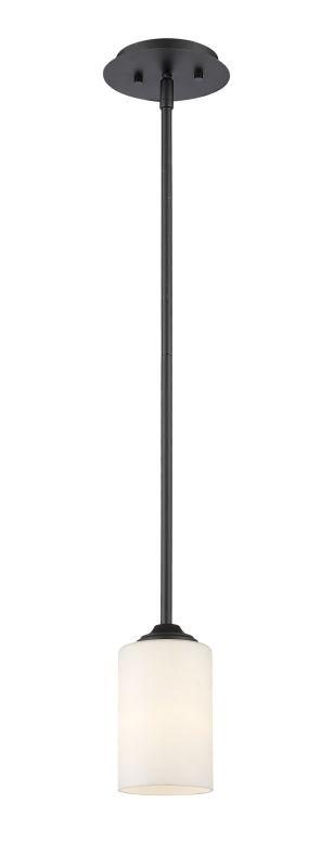 Z-Lite 435MP Bordeaux 1 Light Pendant with Matte Opal Glass Shade