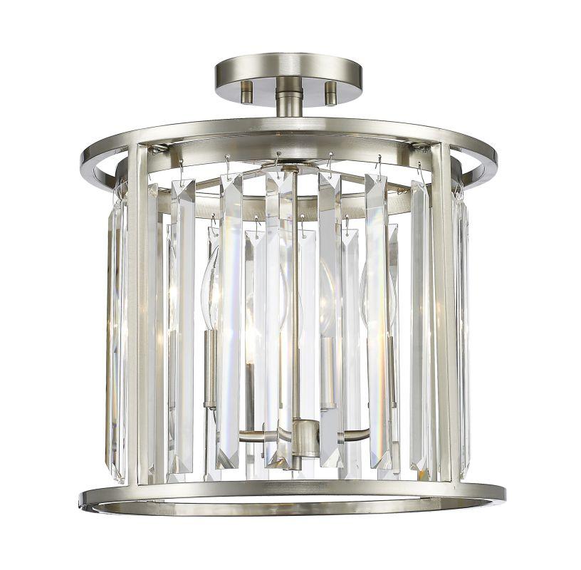 Z-Lite 439SF14 Monarch 3 Light Semi Flush Ceiling Fixture Brushed