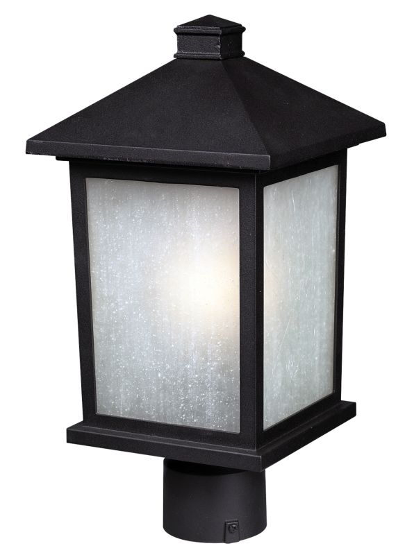 Z-Lite 507PHB Holbrook 1 Light Outdoor Post Light with White Seedy