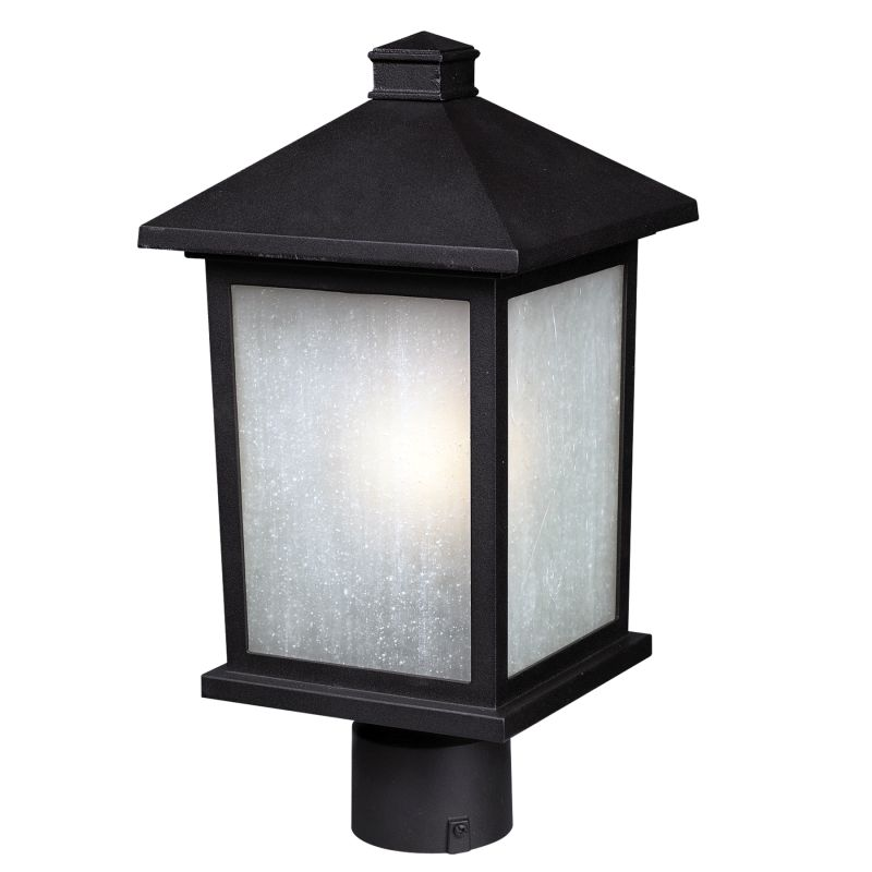 Z-Lite 507PHM Holbrook 1 Light Outdoor Post Light with White Seedy