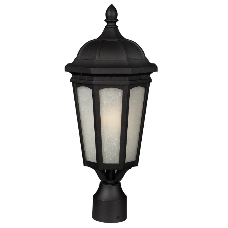 Z-Lite 508PHB Newport 1 Light Outdoor Post Light with White Seedy