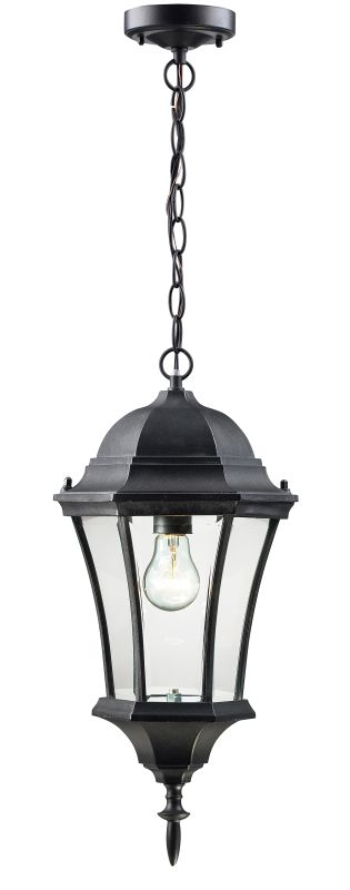 Z-Lite 522CHM Wakefield 1 Light Outdoor Pendant with Clear Beveled Sale $82.00 ITEM: bci1825369 ID#:522CHM-BK UPC: 685659012002 :