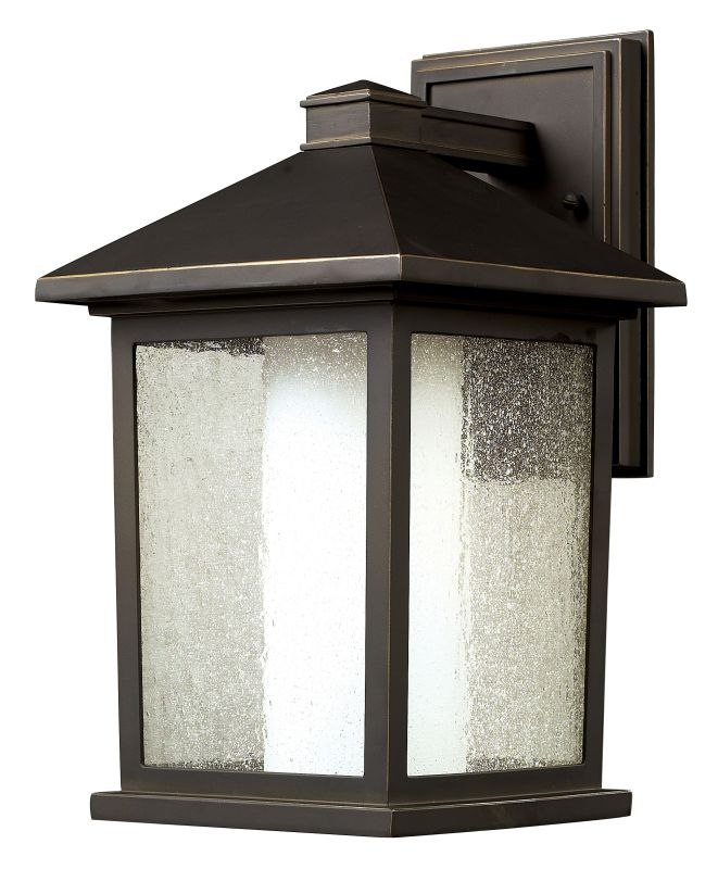 Z-Lite 524M Mesa 1 Light Outdoor Wall Sconce with Seedy and Matte Opal