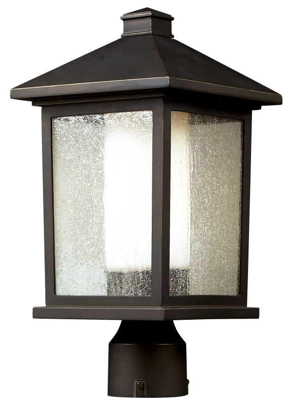 Z-Lite 524PHM Mesa 1 Light Outdoor Post Light with Seedy and Matte Sale $226.00 ITEM: bci1825387 ID#:524PHM UPC: 685659012194 :