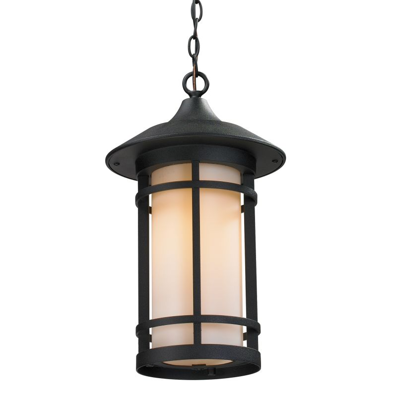 Z-Lite 527CHB Woodland 1 Light Outdoor Pendant with Matte Opal Shade Sale $272.00 ITEM: bci2519422 ID#:527CHB-BK UPC: 685659025880 :
