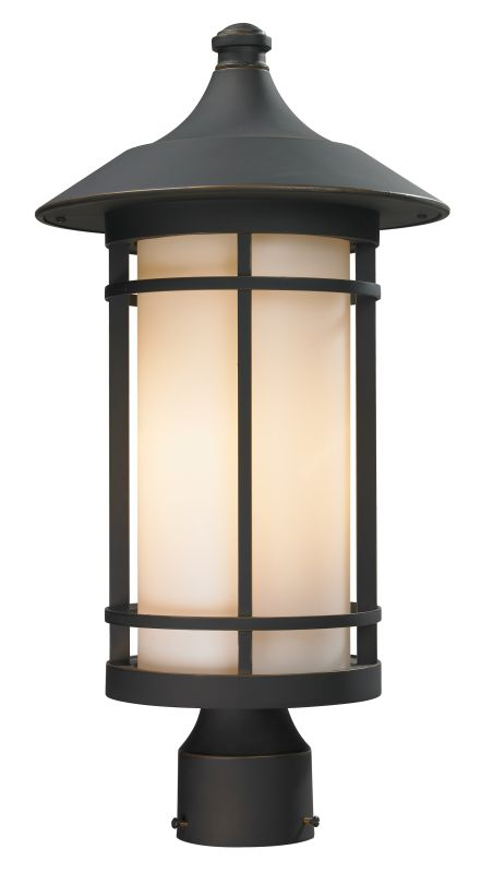Z-Lite 528PHB Woodland 1 Light Outdoor Post Light with Matte Opal Sale $288.00 ITEM: bci2519440 ID#:528PHB-ORB UPC: 685659026061 :