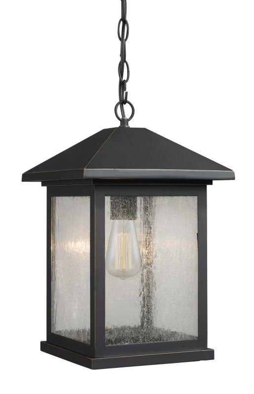 Z-Lite 531CHB Portland Small 1 Light Outdoor Lantern Pendant Oil