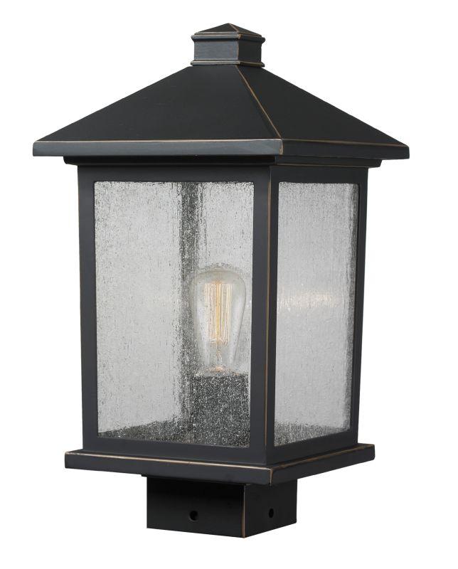 "Z-Lite 531PHMS Portland 14.375"" Tall 1 Light Outdoor Lantern Post"