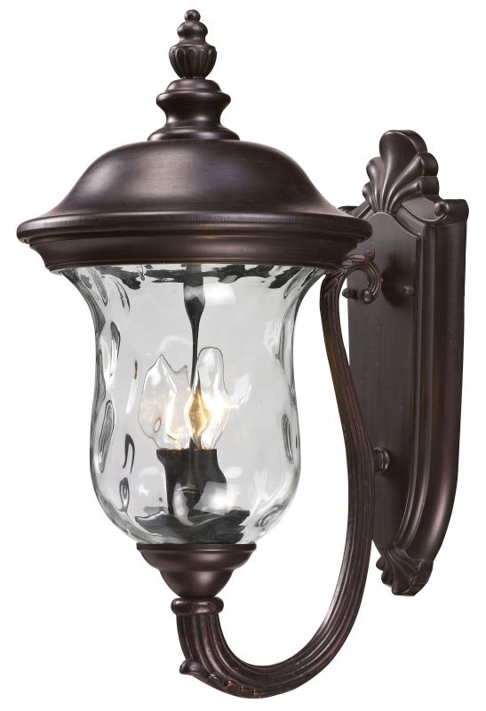 Z-Lite 533M Armstrong 2 Light Outdoor Wall Sconce with Clear Water