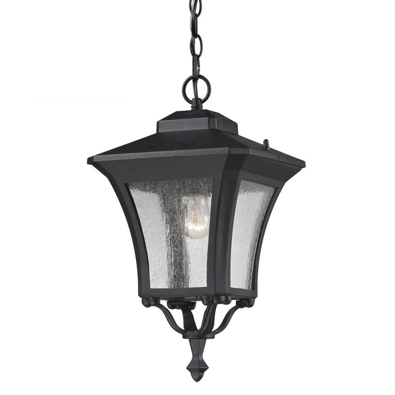 Z-Lite 535CHM Waterdown 1 Light Outdoor Pendant with Clear Seedy Shade Sale $172.00 ITEM: bci2519501 ID#:535CHM-BK UPC: 685659018691 :